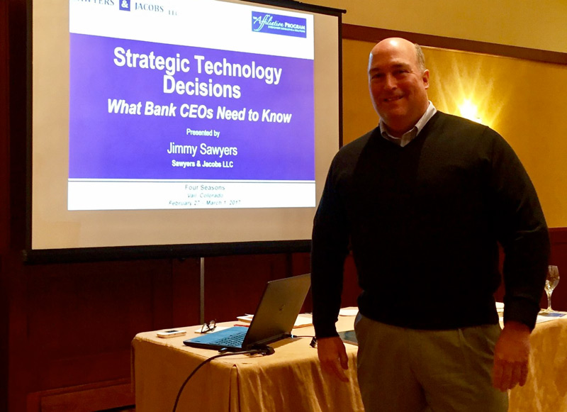 Jimmy Sawyers presents at the Sheshunoff CEO Affiliation Program in Vail