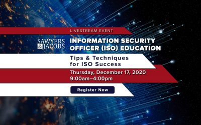 Information Security Officer (ISO) Education – Register Now!